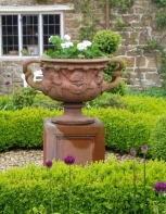 victorian-tazza and parterre planting
