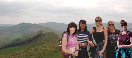 Rebecca, Sarah & Di on Lose Hill
