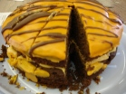 Inside chilli choc tiger cake